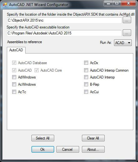 AutoCAD-dotnet-wizard-configurator