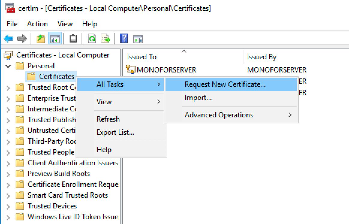 request-new-certificate
