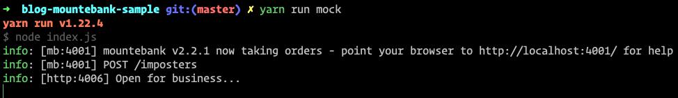 Mountebank running